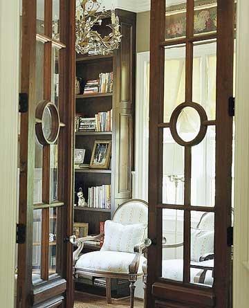 Repurposed doors copperleaf treasures for Glass office doors interior