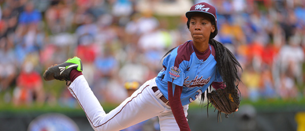 13 yr old Little League girl pitcher - photo