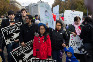 A demonstration in front of the White House last  week in support of broad changes in immigration enforcement. Credit Jabin Botsford/The New York Times